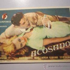 Cine: PROGRAMA DE CINE - ACOSADOS - 1946 . Lote 37494778