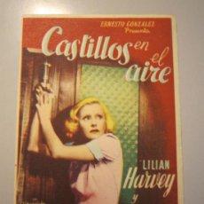 Cine: PROGRAMA DE CINE - CASTILLOS EN EL AIRE - 1939 . Lote 37546889