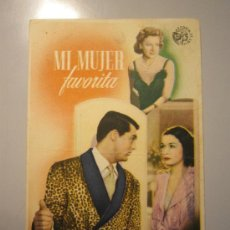 Cine: PROGRAMA DE CINE - MI MUJER FAVORITA - 1940 - DOBLADO - . Lote 37563995