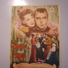 Cine: PROGRAMA DE CINE - MARIA WALEWSKA - 1937 . Lote 37564470