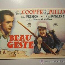Cine: PROGRAMA DE CINE - BEAU GESTE - 1939 - . Lote 37565008