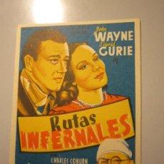 Cine: PROGRAMA DE CINE - RUTAS INFERNALES - 1940 - . Lote 37580161