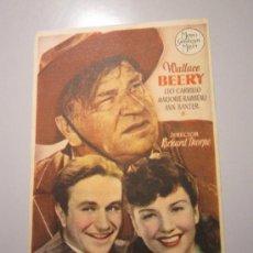 Cine: PROGRAMA DE CINE - PUÑO DE HIERRO - 1940 - PUBLICIDAD . Lote 37580933
