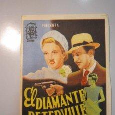 Cine: PROGRAMA DE CINE - EL DIAMANTE DE PETERVILLE - 1942 - PUBLICIDAD - DOBLADO . Lote 37599665