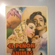 Cine: PROGRAMA DE CINE - EL PEÑÓN DE LAS ÁNIMAS - 1942 - ALGO SOBADO. Lote 37600004
