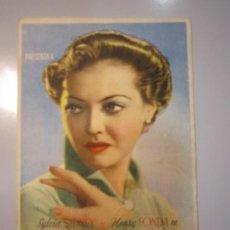 Cine: PROGRAMA DE CINE - SOLO SE VIVE UNA VEZ - 1937 - PUBLICIDAD - DOBLADO . Lote 37613250