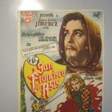 Cine: PROGRAMA DE CINE - SAN FRANCISCO DE ASÍS - 1943. Lote 37614728