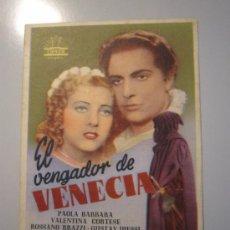 Cine: PROGRAMA DE CINE - EL VENGADOR DE VENECIA - 1948 - DOBLADO - DOBLADO. Lote 37729610