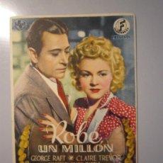 Cine: PROGRAMA DE CINE - ROBÉ UN MILLÓN - 1939 - . Lote 37731048