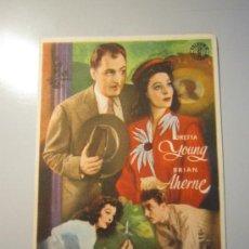 Cine: PROGRAMA DE CINE - QUE NOCHE AQUELLA - 1942. Lote 37731234