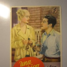 Cine: PROGRAMA DE CINE - UNA CHICA RUBIA - 1938 . Lote 37744832