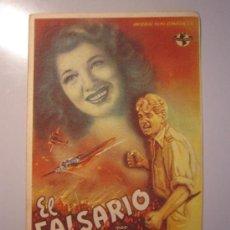 Cine: PROGRAMA DE CINE - EL FALSARIO - 1944 - PUBLICIDAD - DOBLADO . Lote 37787329
