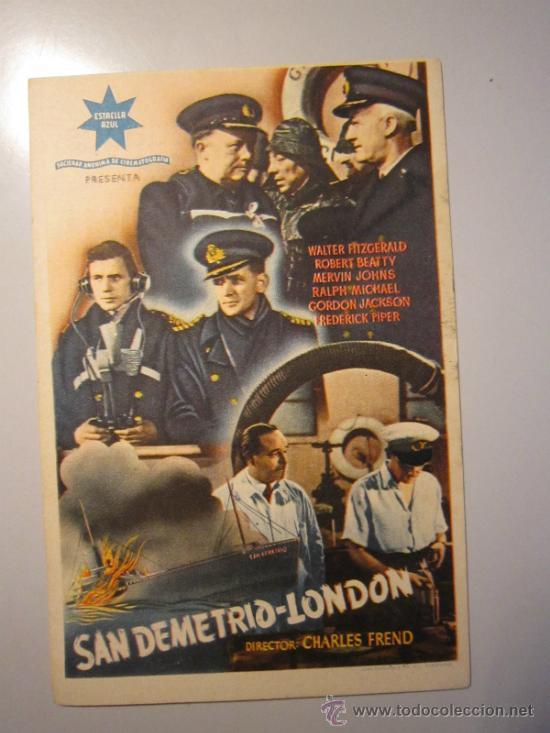 PROGRAMA DE CINE - SAN DEMETRIO LONDON - 1943 - PUBLICIDAD (Cine - Folletos de Mano - Bélicas)