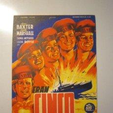 Cine: PROGRAMA DE CINE - ERAN CINCO HERMANOS - 1944 . Lote 37788045