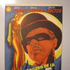 Cine: PROGRAMA DE CINE - UN CABALLERO EN LA NOCHE - 1942 - DOBLADO - PUBLICIDAD. Lote 37805076