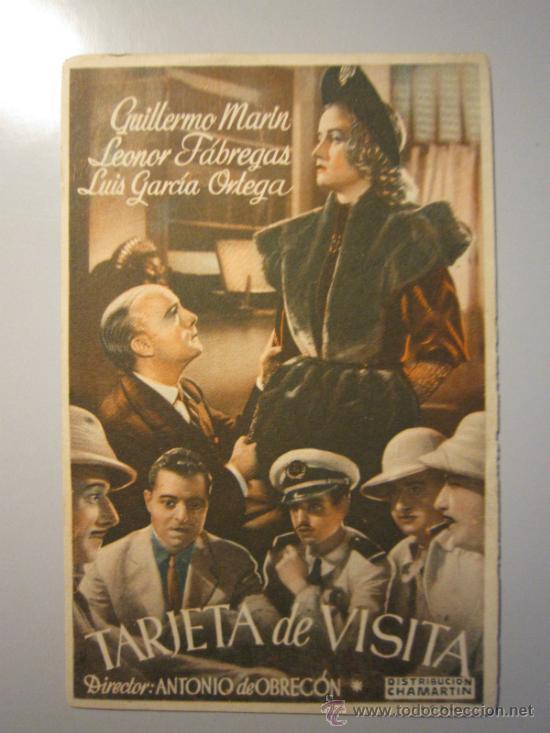 PROGRAMA DE CINE - TARJETA DE VISITA - 1944 - (Cine - Folletos de Mano - Acción)