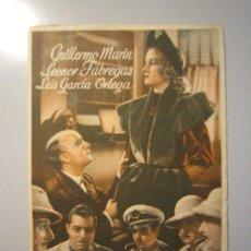 Cine: PROGRAMA DE CINE - TARJETA DE VISITA - 1944 - . Lote 37805277