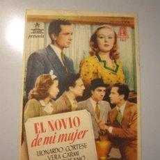 Cine: PROGRAMA DE CINE - EL NOVIO DE MI MUJER - 1943 - DOBLADO. Lote 37820920