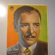 Cine: PROGRAMA DE CINE - EN TINIEBLAS - 1939. Lote 37821029