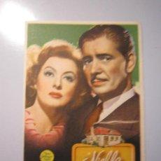 Cine: PROGRAMA DE CINE - NIEBLA EN EL PASADO - 1942 - PUBLICIDAD. Lote 37916177