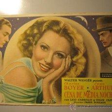 Cine: PROGRAMA DE CINE - CENA DE MEDIA NOCHE - 1937. Lote 37937140