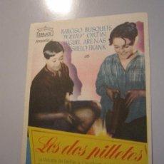 Cine: PROGRAMA DE CINE - LOS DOS PILLETES - 1942. Lote 38698960