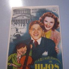 Cine: PROGRAMA DE CINE - HIJOS DE LA FARÁNDULA - 1939. Lote 38939949