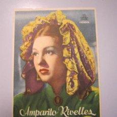 Cine: PROGRAMA DE CINE - EL CLAVO - AMPARITO RIVELLES - 1944. Lote 38958804