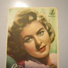 Cine: PROGRAMA DE CINE - LOS 4 HIJOS DE ADAM - 1941 - PUBLICIDAD. Lote 38959993