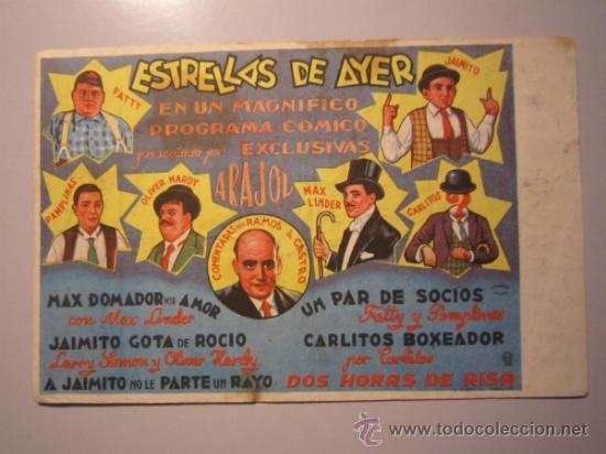 PROGRAMA DE CINE - ESTRELLAS DE AYER - 1940 - PUBLICIDAD - SUCIO Y DOBLADO (Cine - Folletos de Mano - Comedia)