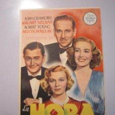 Cine: PROGRAMA DE CINE - LA HORA RADIANTE - 1938 - PUBLICIDAD. Lote 38974019