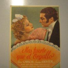 Cine: PROGRAMA DE CINE - MAS FUERTE QUE EL ORGULLO - 1940. Lote 38974868