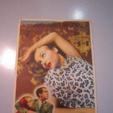 Cine: PROGRAMA DE CINE - MATRIMONIO ORIGINAL - 1941 - PUBLICIDAD - REVERSO SUCIO - DOBLADO. Lote 38990151