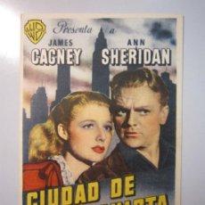 Cine: PROGRAMA DE CINE - CIUDAD DE CONQUISTA - 1940 - PUBLICIDAD. Lote 38990544