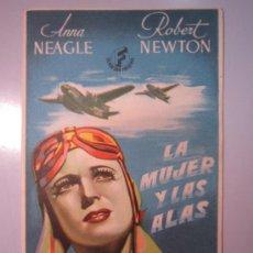 Cine: PROGRAMA DE CINE - LA MUJER Y LAS ALAS - 1942. Lote 39005650