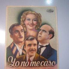 Cine: PROGRAMA DE CINE - YO NO MECASO - 1944. Lote 39005871