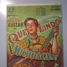Cine: PROGRAMA DE CINE - QUE LINDO ES MICHOACAN - 1942 - DOBLADO. Lote 39044089