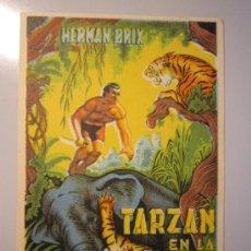 Cine: PROGRAMA DE CINE - TARZÁN EN LA CIUDAD MUERTA - DOBLADO - 1935. Lote 39044695