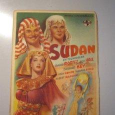 Cine: PROGRAMA DE CINE - SUDÁN - 1945. Lote 39044931
