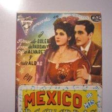 Cine: PROGRAMA DE CINE - MEXICO DE MIS RECUERDOS - 1943 - PUBLICIDAD. Lote 39045331