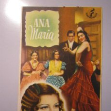 Cine: PROGRAMA DE CINE - ANA MARIA - 1943. Lote 39045395