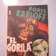 Cine: PROGRAMA DE CINE - EL GORILA - 1940. Lote 39062459
