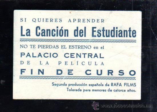 Cine: PROGRAMA DE CINE. C/P. FIN DE CURSO. PALACIO CENTRAL. 2ª PRODUCCION DE RAFA FILMS. - Foto 2 - 37417947