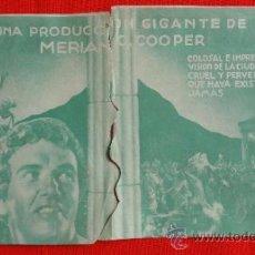 Cine: LOS ULTIMOS DÍAS DE POMPEYA, DOBLE TROQUELADO 1936, EXTE ESTADO, P FOSTER A HALE, CON PUBLI FORTUNY. Lote 37444020