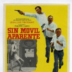 Cine: SIN MÓVIL APARENTE, CON LAURA ANTONELLI.. Lote 105537271