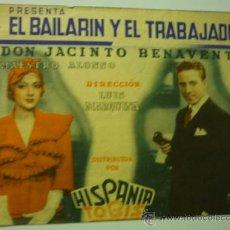 Cine: PROGRAMA DOBLE EL BAILARIN Y EL TRABAJADOR .- ROBERTO REY - A.COLOME -PUBLICIDAD. Lote 37478007