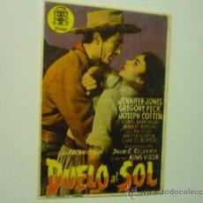 Foglietti di film di film antichi di cinema: PROGRAMA DUELO AL SOL .-GREGORY PECK -JENNIFER JONES. Lote 37479160