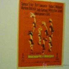 Cine: PROGRAMA VENCEDORES O VENCIDOS .- SPENCER TRACY - BURT LANCASTER-PUBLICIDAD. Lote 37479391