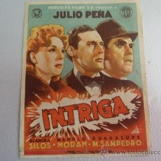 Cine: FOLLETO DE MANO INTRIGA CINE GOYA 1943. Lote 37482608
