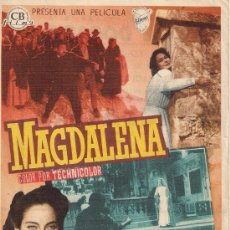 Cine: FOLLETO DE MANO - MAGDALENA. CINE DORADO ZARAGOZA 1955. Lote 37498098
